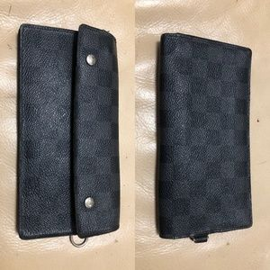 LOUIS VUITTON DAMIER GRAPHITE Long Wallet Black